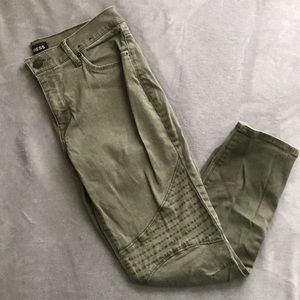 Express Olive Green Utility Jeans